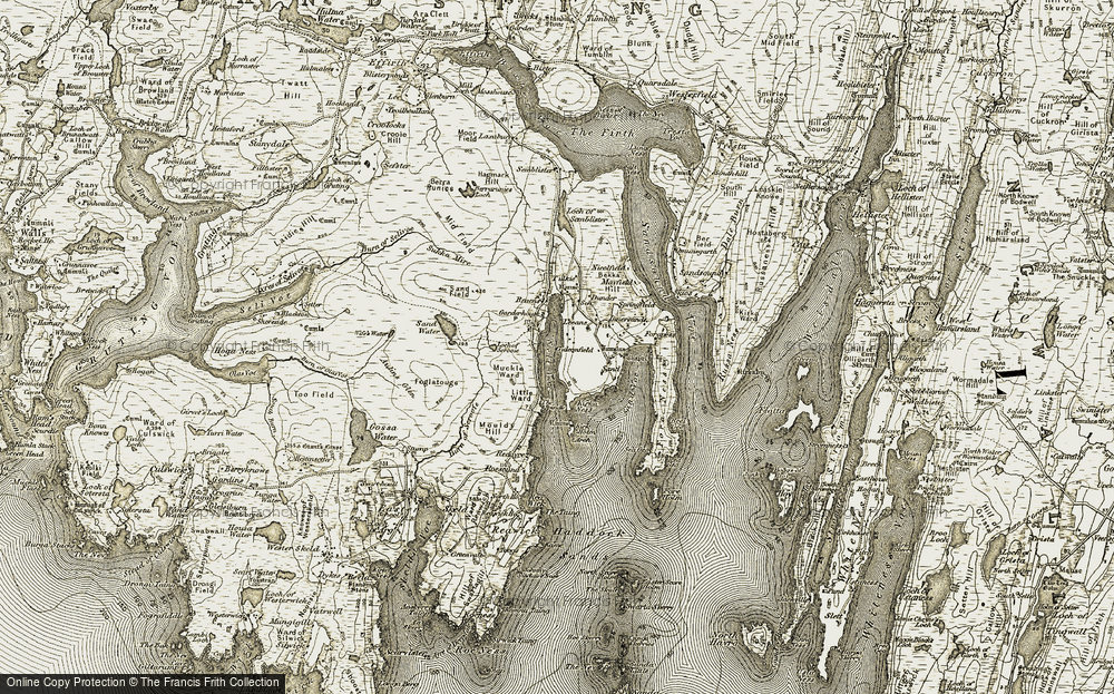 Old Map of Leeans, 1911-1912 in 1911-1912