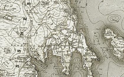 Old map of Leebitten in 1911-1912