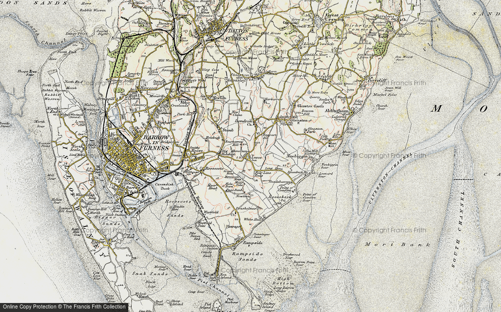 Old Map of Leece, 1903-1904 in 1903-1904