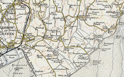 Old map of Leece in 1903-1904