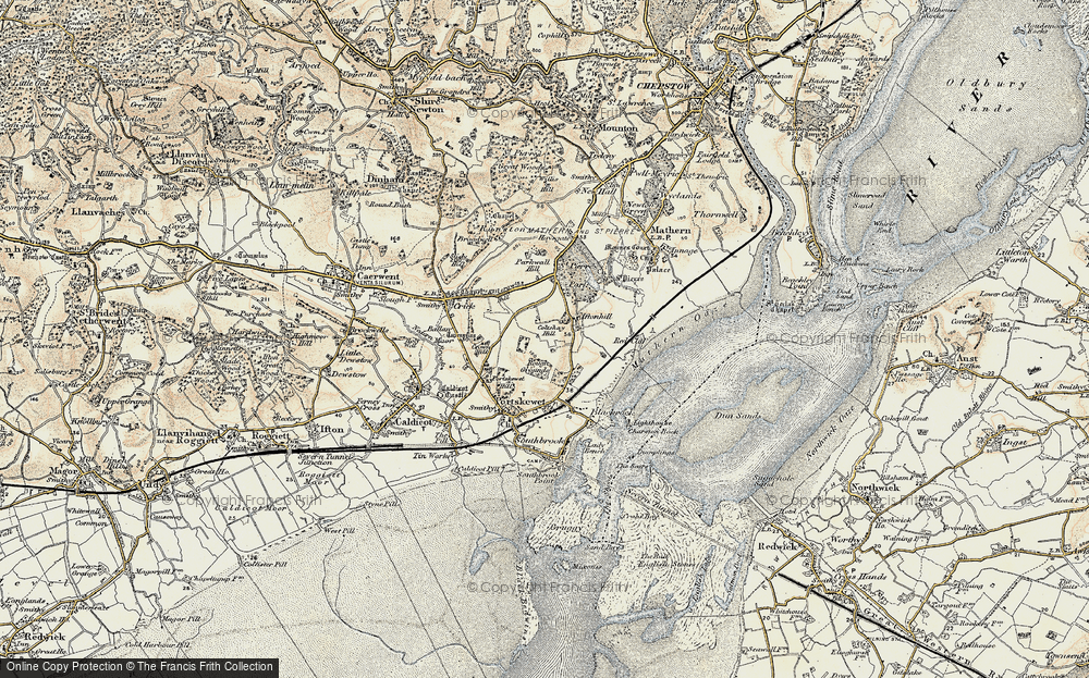 Old Map of Leechpool, 1899 in 1899