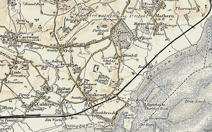 Old map of Leechpool in 1899