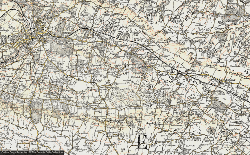 Old Map of Leeds, 1897-1898 in 1897-1898