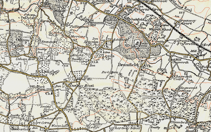 Old map of Leeds in 1897-1898