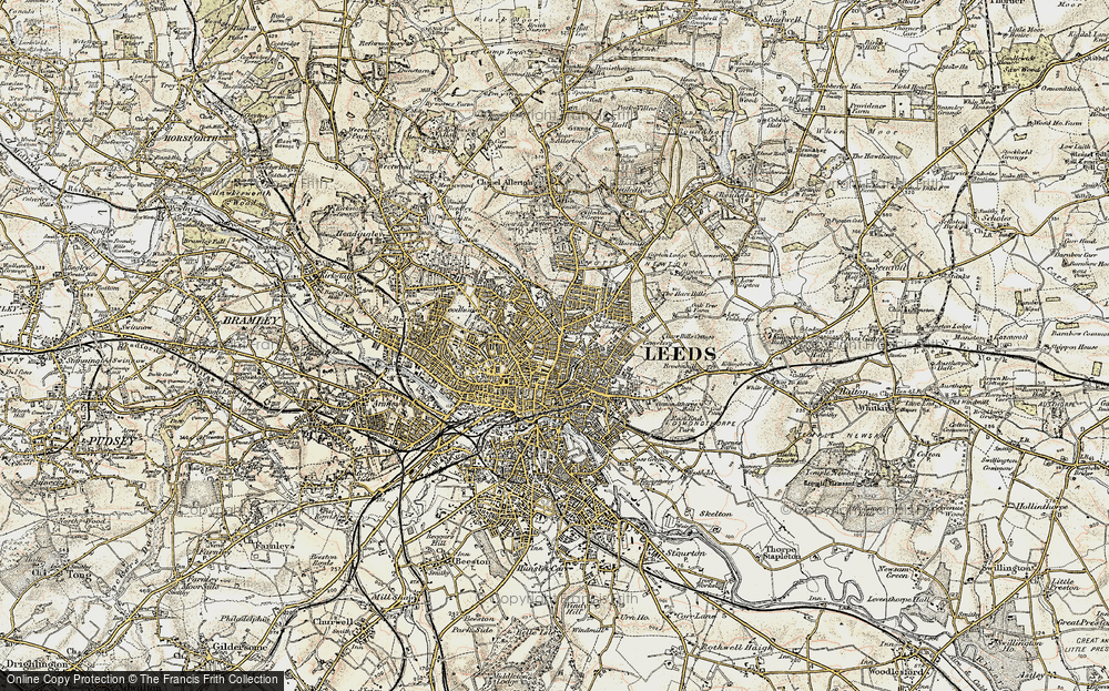 Old Map of Leeds, 1903-1904 in 1903-1904