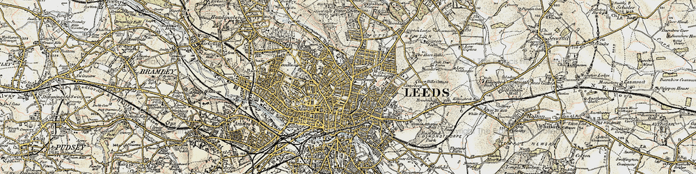 Old map of Leeds in 1903-1904