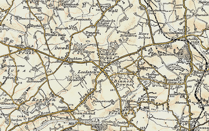 Old map of Leedstown in 1900