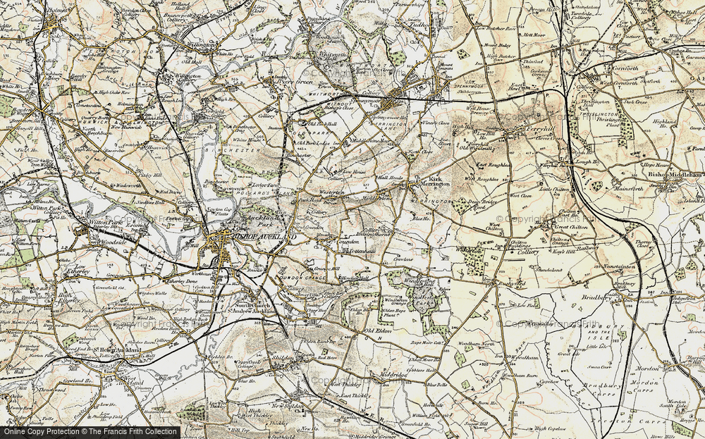 Old Map of Leeholme, 1903-1904 in 1903-1904