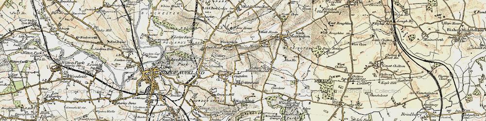 Old map of Leeholme in 1903-1904