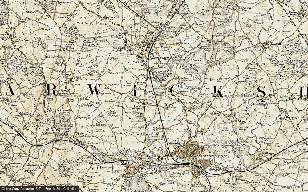 Old Map of Historic Map covering Larch Covert in 1901-1902