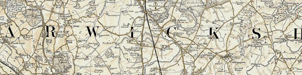 Old map of Larch Covert in 1901-1902