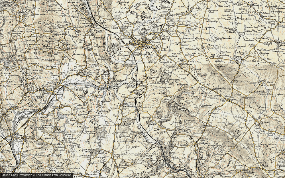 Old Map of Leekbrook, 1902 in 1902