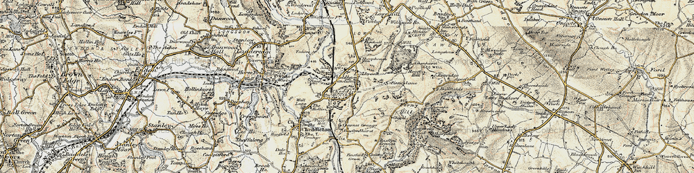 Old map of Leekbrook in 1902