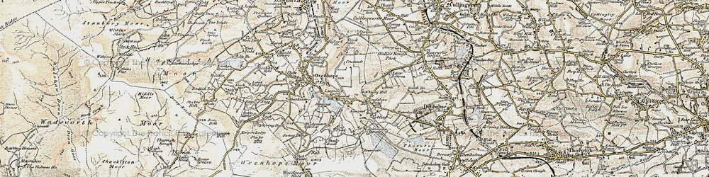 Old map of Leeming in 1903-1904