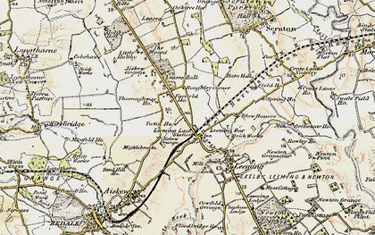 Old map of Leases Grange in 1904