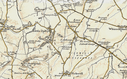 Old map of Leesthorpe Hill in 1901-1903