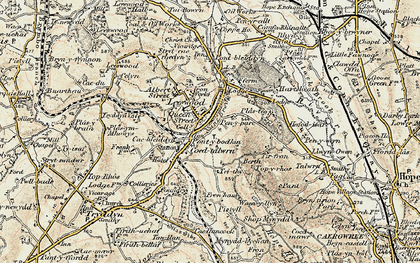 Old map of Leeswood in 1902-1903