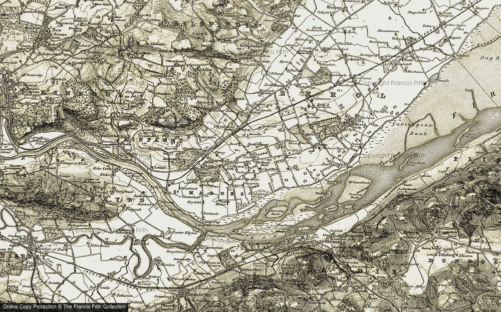Old Map of Leetown, 1906-1908 in 1906-1908