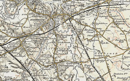 Old map of Leftwich in 1902-1903