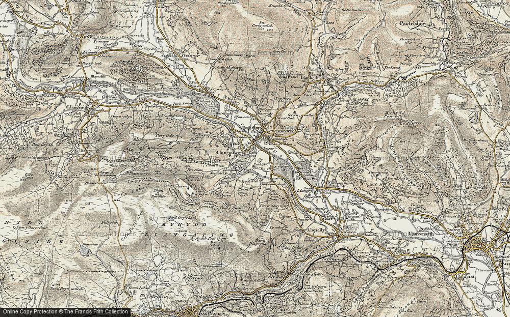 Old Map of Legar, 1899-1901 in 1899-1901