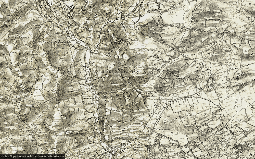 Old Map of Historic Map covering Legerwood Hill in 1901-1904
