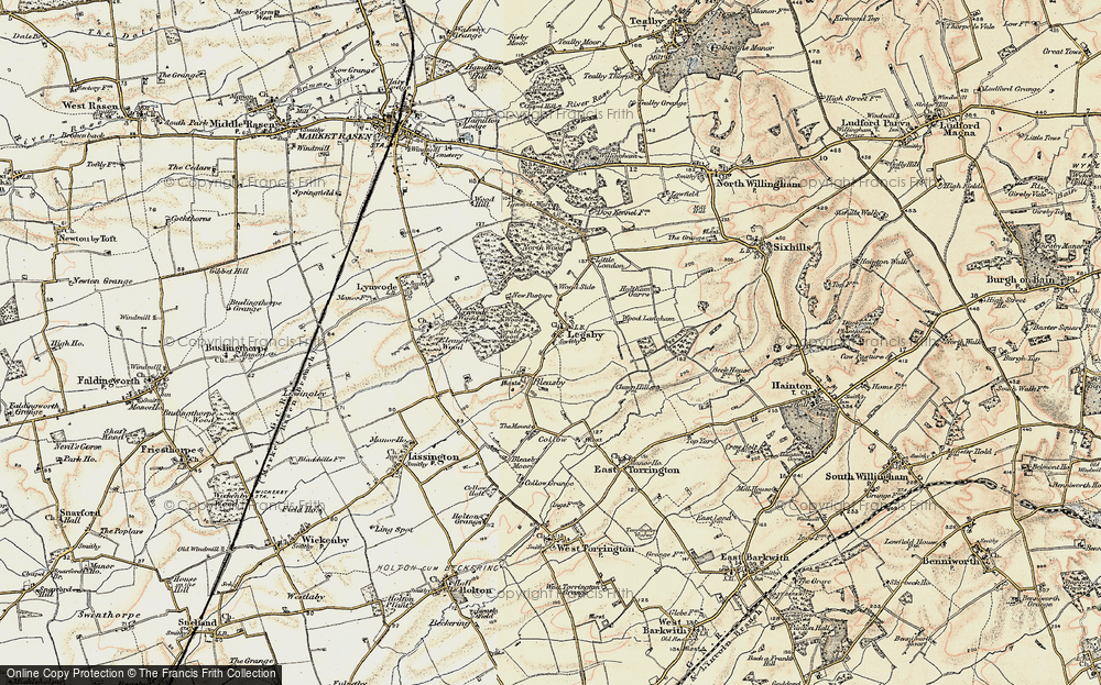 Old Map of Historic Map covering Legsby Wood in 1902-1903