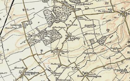 Old map of Wood Langham in 1902-1903