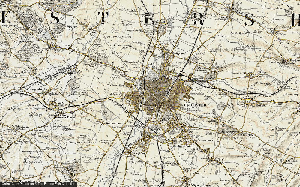 Old Map of Leicester, 1901-1903 in 1901-1903