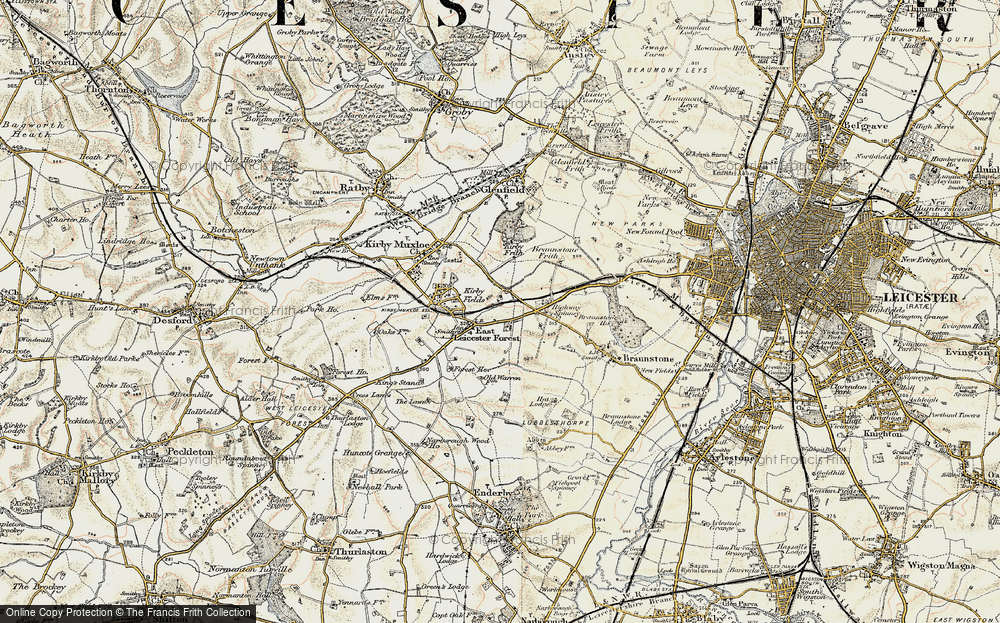 Old Map of Leicester Forest East, 1901-1903 in 1901-1903