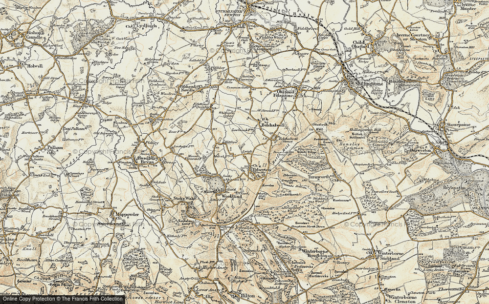 Old Map of Leigh, 1897-1909 in 1897-1909