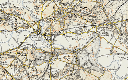 Old map of Leigh in 1897-1909
