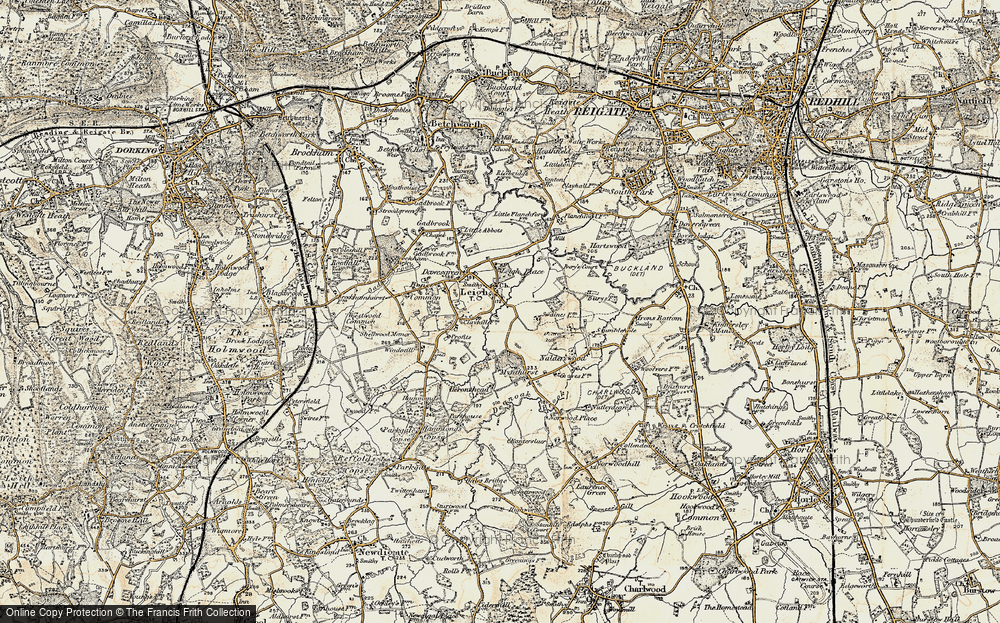 Old Map of Leigh, 1898-1909 in 1898-1909