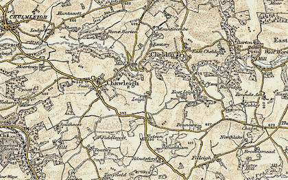 Old map of Leigh in 1899-1900