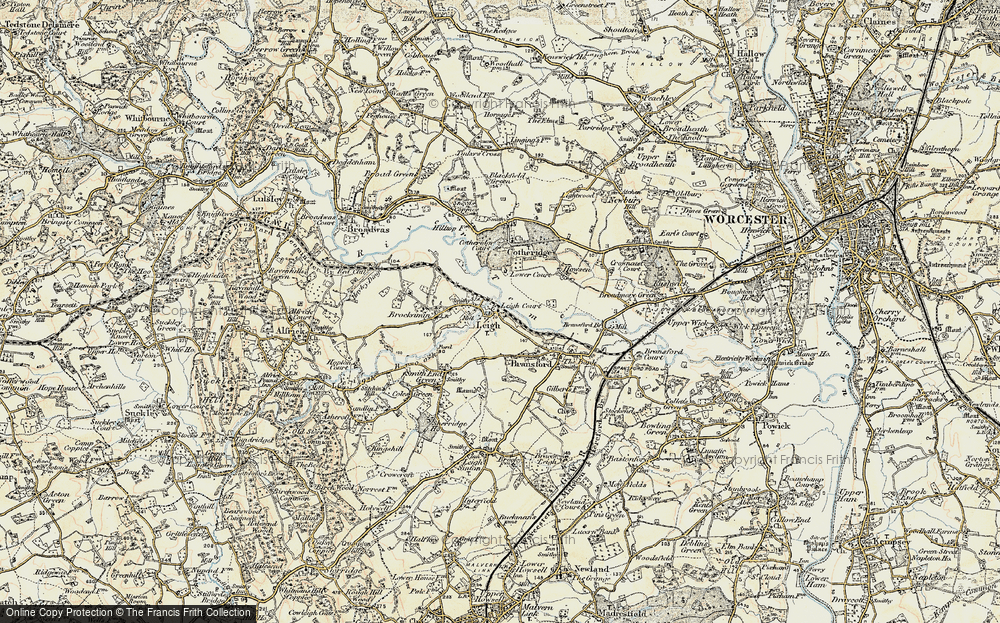 Old Map of Leigh, 1899-1901 in 1899-1901