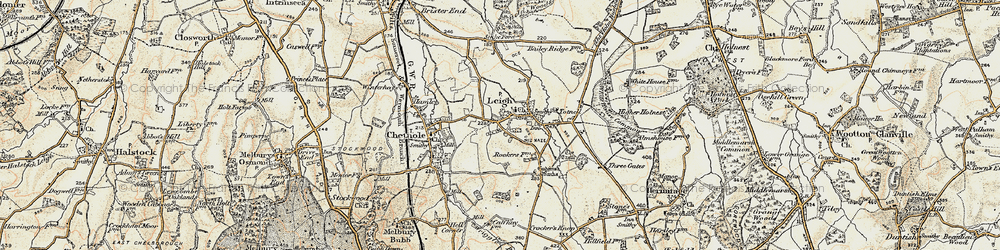 Old map of Leigh in 1899