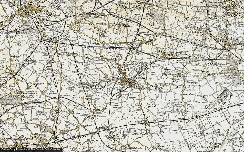 Old Map of Leigh, 1903 in 1903