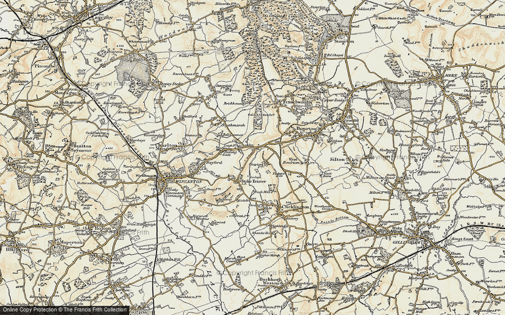 Old Map of Leigh Common, 1897-1899 in 1897-1899