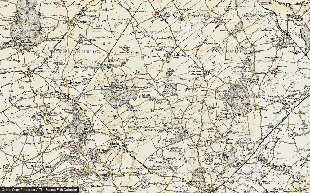 Old Map of Leigh Delamere, 1898-1899 in 1898-1899