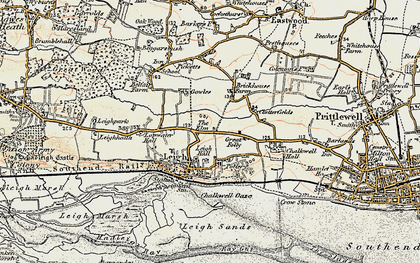 Old map of Leigh-on-Sea in 1898