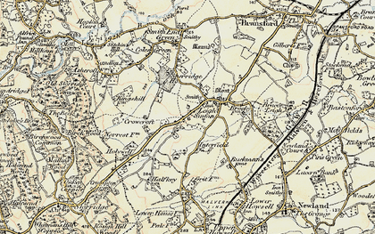 Old map of Leigh Sinton in 1899-1901