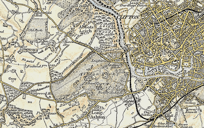 Old map of Aston Court Estate in 1899