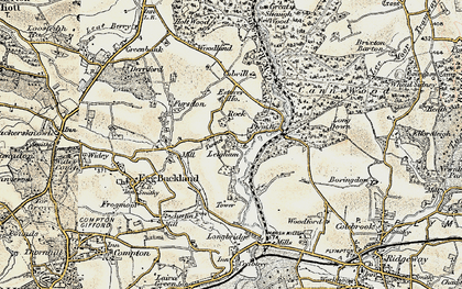 Old map of Leigham in 1899-1900