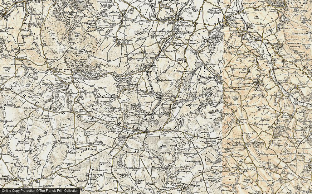 Old Map of Historic Map covering Timwood in 1898-1900