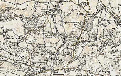 Old map of Leighland Chapel in 1898-1900