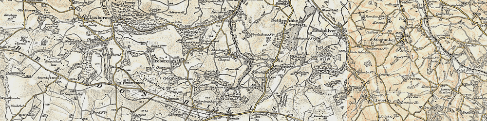 Old map of Timwood in 1898-1900