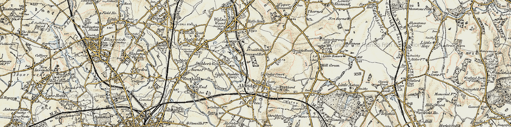 Old map of Leighswood in 1902