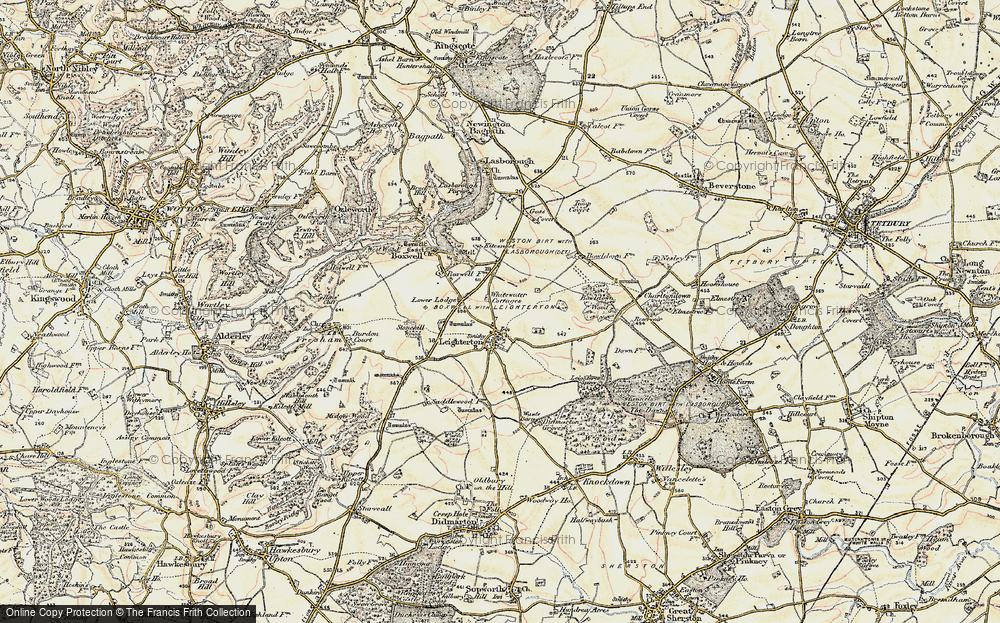 Old Map of Leighterton, 1898-1899 in 1898-1899