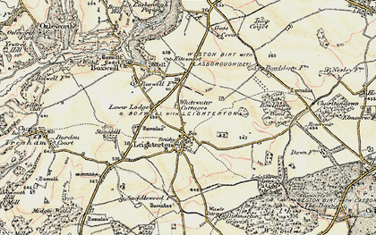 Old map of Leighterton in 1898-1899