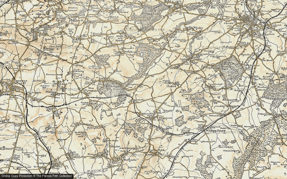Old Map of Leighton, 1899 in 1899