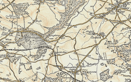 Old map of Leighton in 1899